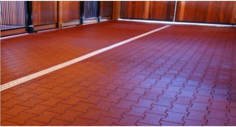 buckaroo barn australia- rubber brick pavers